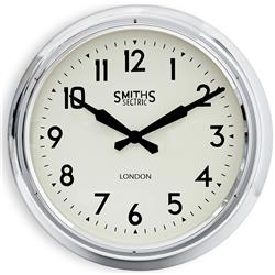 Extra Large Smiths Wall Clock in Chrome - 60cm