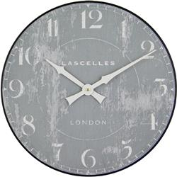 WOODEN WALL CLOCK LASCELLES GREY - 36CM