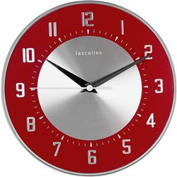 Deco Domed Clock, Red - 20.5cm