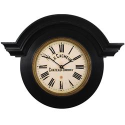 Large Ornamental Chateau Clock, Black - 63cm