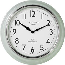 RADIO CONTROLLED GREEN RETRO CLOCK - 35 CM