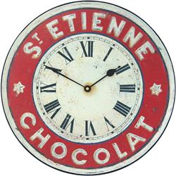 Chocolate French St. Etienne Kitchen Wall Clock - 36cm