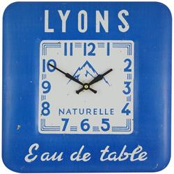 Square Tin Wall Clock, Water Design - 31cm