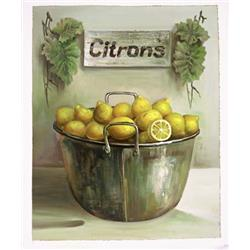 Lemons in Metal Bucket