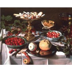Still life of fruit on table