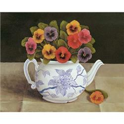 Teapot with Pansies