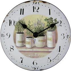 Herbs Pots Table Clock - 15cm
