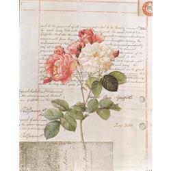 Pink and White Flower on Script