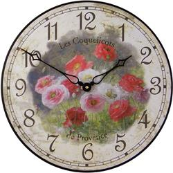 Poppies Wall Clock - 36cm