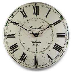 Large Enamel Lascelles French Clockmaker - 36cm