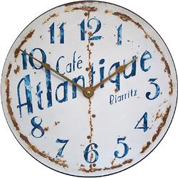 French Cafe Atlantique Wall Clock - 36cm