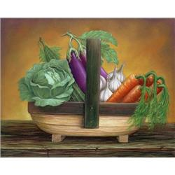 Trug Basket Vegetables (carrot)