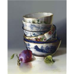Chinese Bowls and Plum
