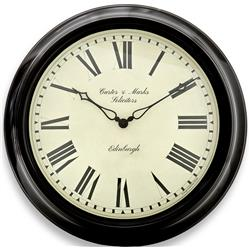 Personalised -  Black Station Clock - 45.5cm
