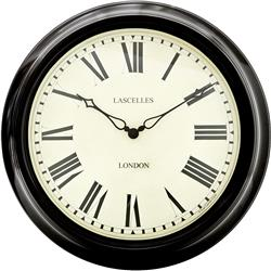 Black Station Clock - 45.5cm