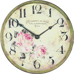 Floral Parisian wall clock - 36cm