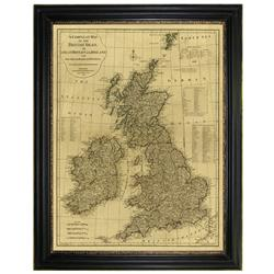 A complete map of the British Isles, 1788 (46 x 36