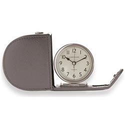 Fold Away Alarm, Genuine Leather Grey Case with Gift Box