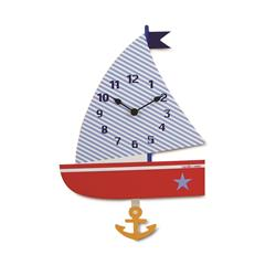 Children' Sail Wall Clock with Pendulum - 35cm