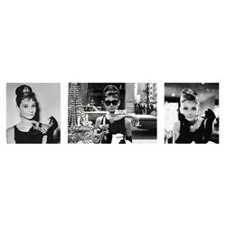 Breakfast at Tiffanys Triptych (38 x 13