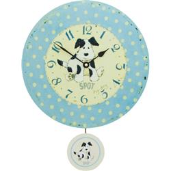 Spot My Dog Wall Clock with Pendulum - 28.5cm