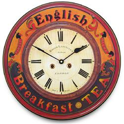 English Breakfast Tea Clock - 36cm