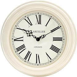Lacelles Classic Wall Clock  in Cream - 32cm