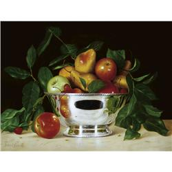 Fruits in Silver Bowl