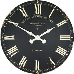 Extra Large Greenwich Dial in Black - 70cm
