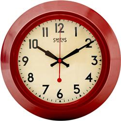 Red Smiths Sectric Wall Clock, Smiths Dial - 25.5cm