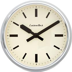 Deep Retro Chrome Wall Clock - 37CM