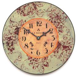 Red Wine Wall Clock - 36cm