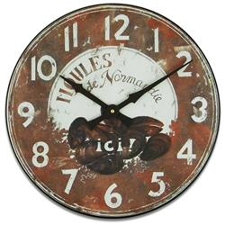 MOULES WOODEN WALL CLOCK - 36CM