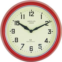 Radio Controlled Retro Red Wall Clock - 30 cm