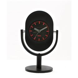 Retro Microphone Alarm Clock in Black 16.7cm