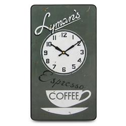 Lymans Coffee Wall Clock - 41.5cm