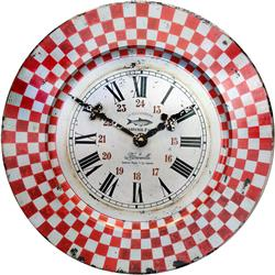 French Tin Marseille Wall Clock