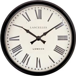 A Large Black Station Clock - 58cm