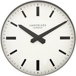 Large Metal Wall Clock in Silver Case - 40CM