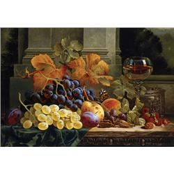 Still Life of Fruit with Wine Glass