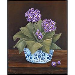 Purple Auricular in blue and white bowl