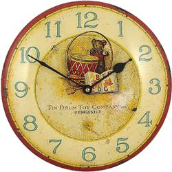 Childrens Enamel 'Drum' Clock - 27cm