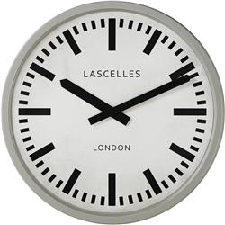 Large Industrial Grey Clock - 55 cm
