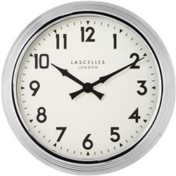 A Large Chrome Wall Clock - 60cm