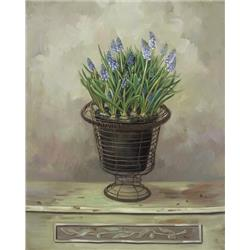 Lavender in Wicker Vase
