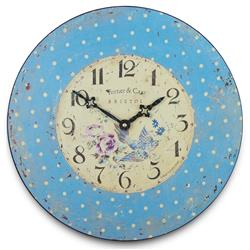 Spotted Bluebird Clock - 36cm