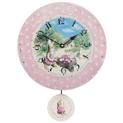 Childrens 'Susie' Wall Clock with Pendulum - 28.5cm