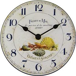 Fruits De Mer Table Clock - 15cm