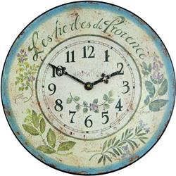 Herb design French wall clock - 36cm