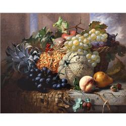 Still Life of Fruit with Melon